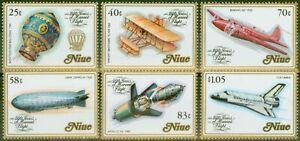 Niue 1983 Manned Flight set of 6 SG496-501 V.F MNH