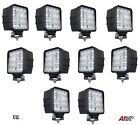 10 x 16 LED 12V 24V 48W SQUARE LAMPADA DA LAVORO ROTONDO FARO 4WD JEEP SUV