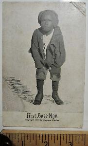 1907 First Base Man Black Americana PC