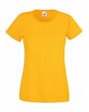Fruit of The Loom Women's Valueweight Fitted T-shirt 2xl Sky Blue