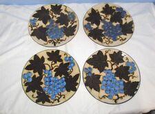 4 Italien Majolika Soft Paste Keramik Teller Albisola Capo