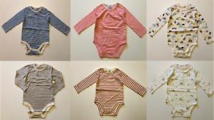 John Lewis Baby Boys Girls Long Sleeved Bodysuit Babygrow Body Vest 3 6 12 18 24