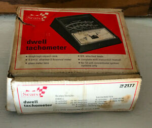 Vintage Sears Model 28-2177 Dwell Tachometer with original box and manual