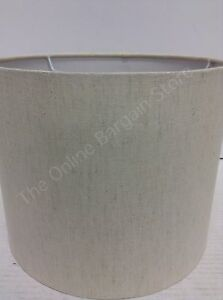 Frontgate Grandinroad Small Natural Staight Shade Linen Drum Lamp Light Shade