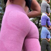 New Women Seamless Leggings High Waisted Workout Gym Sports Push Up Yoga Pants O