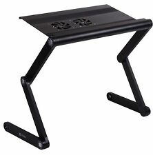 Pwr+® Portable Folding Laptop Table Notebook Desk Bed Tray Stand with 2x F
