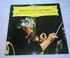 Rossini Overturen LP Herbert Von Karajan Berliner Philharmoniker Deutsche Grammo