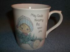 1985 Precious Moments Porcelain Coffee Cup Mug May Gods Blessing Fall Upon You