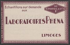 "FRANCE CARNET N° 188-C2 "" PHENA INCOMPLET 4 TIMBRES 1927 "" NEUFS xx SUP J057"