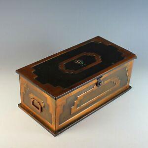 Vintage Stockholm Treasure Chest, Metal Box, Her-Mar Corp
