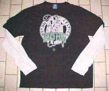6bbadc461 Boston Celtics NBA UNK Blue Label Black White Green Long Sleeve T-shirt 2XL