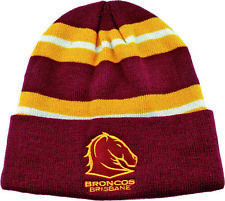 Brisbane Broncos Nrl Wozza Embroidered Beanie Hat Easter Gift 2020