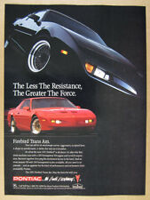1991 Pontiac Firebird Trans Am red car photo vintage print Ad