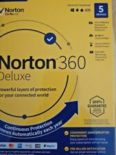 Norton 360 Deluxe 5 Devices 1 Year Android|Mac|Win|iOS [VPN, 50GB Cloud Backup ]