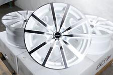 18x8.0 White Wheels Rims 5x114.3 5 Lugs Fit Mustang Hyundai Elantra Sonata Ex35