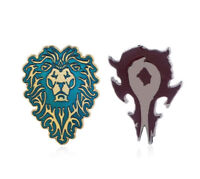 Lot of 2 World of Warcraft WoW Horde & Alliance Logo Pins