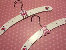 Princess & Ballet Theme Wooden Clothes Hangers by Gisela Graham Set 2 Pink White