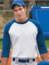 Sport-Tek Raglan 3/4 sleeve softball BASEBALL shirt s m L XL 2X 3X 4X 5X 6X