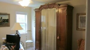 Antique French Style Three Door Armoire