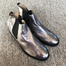 Hush Puppies Gunmetal Leather Ankle Boots UK5