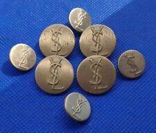 YSL Yves Saint Laurent  Metal Buttons Set
