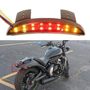 Motorcycle Rear Fender LED Brake Stop Turn Signal For Bobber Chopper Cafe Racer