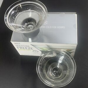 HOST Freeze Insulated Martini Cooling Cups / Dessert Chiller Double Wall 2 pcs