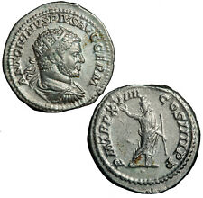 Silver denarius of Caracalla.  Serapis with sceptre.