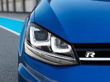 Línea R R Cromo y Negro Insignia Delantera Encerado Parrilla Custom R32 R VW Golf Tiguan