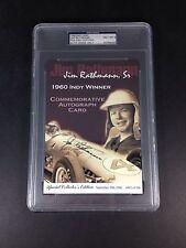 Jim Rathmann Sr. Indy Winner 1960 Autograph Psa Graded 8 Nm-Mt Slabbed