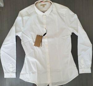 BURBERRY BRIT Mens White Long Sleeve Button Down Cotton Shirt SIZE M NWT.