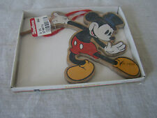 Vintage Wooden Mickey Mouse Dancing Ornament in Original Box 181557