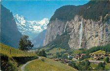 Lauterbrunnen waterfall postcard