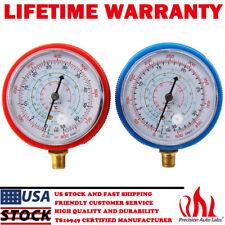 2Pcs Air Conditioner R410A R134A R22 Refrigerant Low High Pressure Gauge PSI KPA