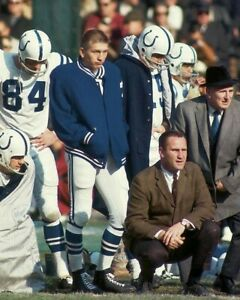 DON SHULA & JOHNNY UNITAS 8X10 PHOTO BALTIMORE COLTS PICTURE NFL FOOTBALL SIDE L