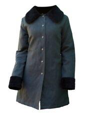 Livity Hemp and Recycled Bottles Women's Coat with Organic Cotton Vegan Fur NWT