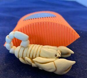 Adam Binder- Ivory color Scorpion Palm Charm- Pendant Necklace Rare 200