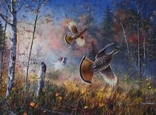 "Jim Hansel ""Quick Escape"" Grouse   Print  16"" x 12"""