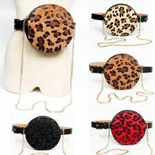 Belt Bag Round Fanny Pack Leopard Print Waist Bag Women For Women Chest Bag Bum