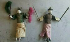 Antique Asian Chinese Doll Dolls - Pair 2