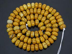 Natural Gemstones Rondelle Spacer Loose Beads 15.5'' 6mm 8mm