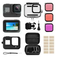Camera Accessories Kit for GoPro Hero 8 Black Waterproof Housing Diving Filters