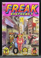 "Freak Brothers Comic Book Cover 2"" X 3"" Fridge / Locker Magnet."