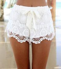 New - White Crochet Shorts - Small - Mini Short Shorts