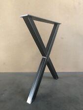1 Stück Tischbeine Stahl Design Tischkufen Stützfuss Tischgestell  X-Form B 600