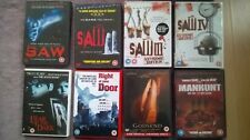 8 Horror DVD's Saw 1,2,3,4, Godsend,Fear of the Dark, Right at your Door&Manhunt