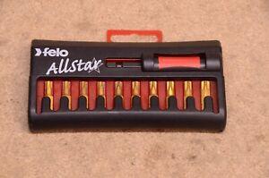 Felo Allstar Torx TiN Bits with Magnetic Bit Holder 11 Piece Set 026 901 76