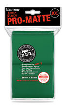 (600) ULTRA PRO Card Sleeves *PRO-MATTE GREEN* DECK PROTECTORS MTG 12 Pack Box