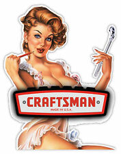 "Craftsman Made in the USA gorgeous woman sticker decal 4"" x 5"""