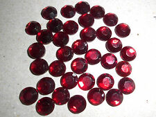 36 pierres de strass en verre ss30 rubis